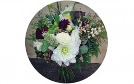 White and Maroon Bouquet